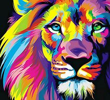 Colorful Lion by sale