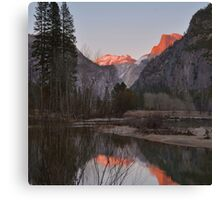 Merced River Sunset Reflections Canvas Print