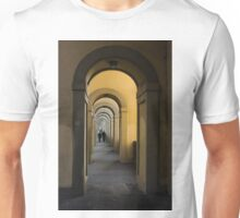 In a Distance - Vasari Corridor in Florence, Italy  Unisex T-Shirt