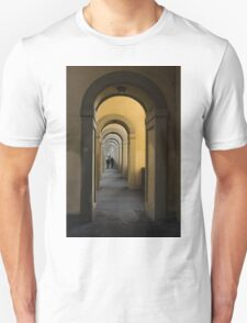 In a Distance - Vasari Corridor in Florence, Italy  T-Shirt