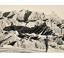 Observing the badlands Photographic Print