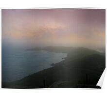 Marin Headland Misty Sunset Poster