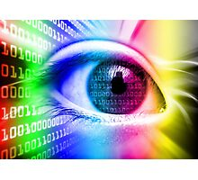 ON THE NET SPECTRUM COLORS BINARY EYE GRAPHIC DESIGN Photographic Print