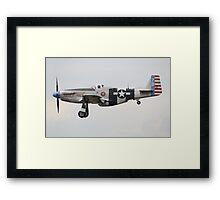 North American P-51K Mustang Fragile but Agile Framed Print