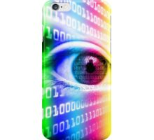 ON THE NET SPECTRUM COLORS BINARY EYE GRAPHIC DESIGN iPhone Case/Skin