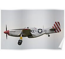 North American P-51D Mustang February Poster