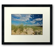 Dunes at North Norfolk beach, United Kingdom Framed Print