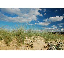 Dunes at North Norfolk beach, United Kingdom Photographic Print