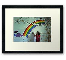 my wish upon the rainbow, Self Portrait Framed Print