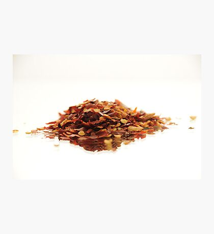 Chillie Flakes Photographic Print