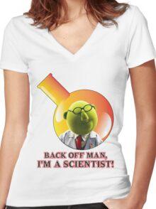 Dr. Bunsen Honeydew. Women's Fitted V-Neck T-Shirt