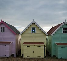 Stained Glass Beach Hut by Nigel Bangert