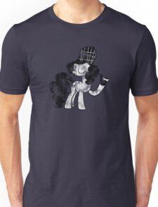 Pinkie Pie Detective Black & White Weathered Unisex T-Shirt