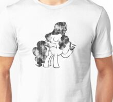 Pinkie Pie Detective Black & White Weathered Unisex T-Shirt