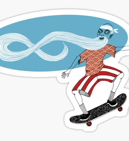 The Ancient Skater, Forever Skate ukiyo e style Sticker