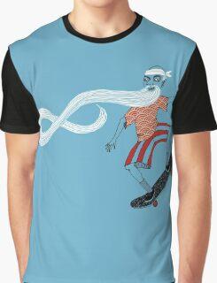 The Ancient Skater, Forever Skate ukiyo e style Graphic T-Shirt