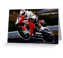 FRACTAL LIGHT MOTORCYCLE RACER DESIGN Greeting Card