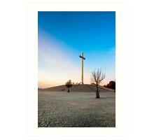 Phoenix Park Chistian Cross - Papal Cross in Dublin Ireland Art Print