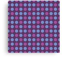 Retro pattern in circles Canvas Print