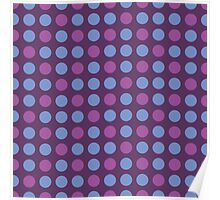 Retro pattern in circles Poster