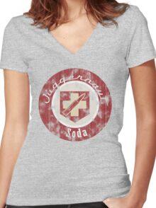 Juggernog - Zombies Perk Emblem Women's Fitted V-Neck T-Shirt