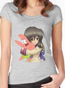Can Fuko Has Starfish? Women's Fitted Scoop T-Shirt