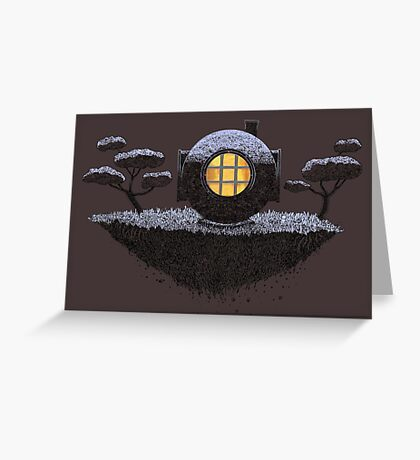 Floating Diver Home Sweet Home Greeting Card