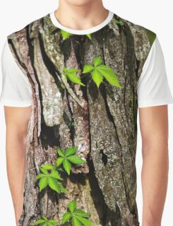 Vine on Bark Abstract Graphic T-Shirt
