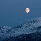 Mountain Moon by Bodil Kristine  Fagerthun