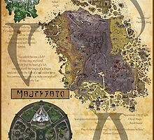 Morrowind The Elder Scrolls Map by AsmoArt