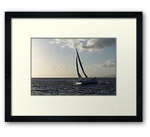 Sailing Towards the Sunlight Framed Print