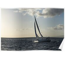 Sailing Towards the Sunlight Poster