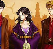 Merlin, Arthur and Morgana by noodles919