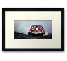 MRBADQ Tread Cemetery Burnout Framed Print