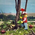 The lego woodcutter by designholic