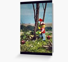 The lego woodcutter Greeting Card