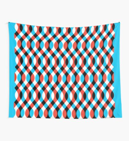 Brain Waves - Blue Wall Tapestry