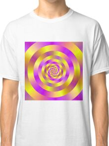 Yellow and Pink Spiral Rings Classic T-Shirt