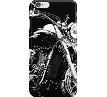 BLACK AND WHITE KAWASAKI VN900 MOTORCYCLE iPhone Case/Skin