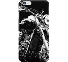 BLACK AND WHITE KAWASAKI VN900 MOTORCYCLE iPhone Case/Skin