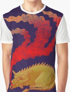 Snoring Dragon Graphic T-Shirt