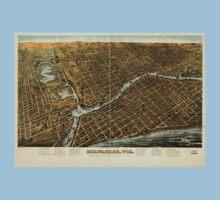 Panoramic Maps Milwaukee Wis One Piece - Short Sleeve