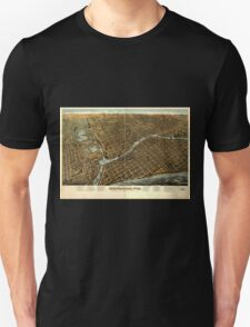 Panoramic Maps Milwaukee Wis Unisex T-Shirt
