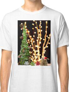 Christmas Tree Santa Mouse Vintage Rustic Classic T-Shirt