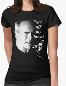 get off my lawn t-shirt Womens Fitted T-Shirt