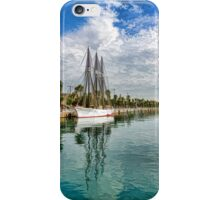 Tall Ships and Palm Trees - Impressions of Barcelona iPhone Case/Skin