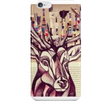 Lego Stag Illustration iPhone Case/Skin