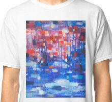Lights in the rainy day oil painting Classic T-Shirt