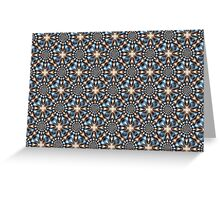 Whirling Dervish in Blue and Brown Greeting Card