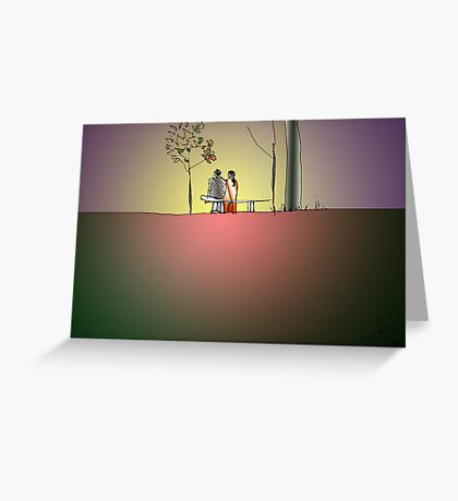Indian Lovers 2 Greeting Card